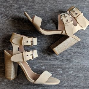 Double Ankle Buckle Heels
